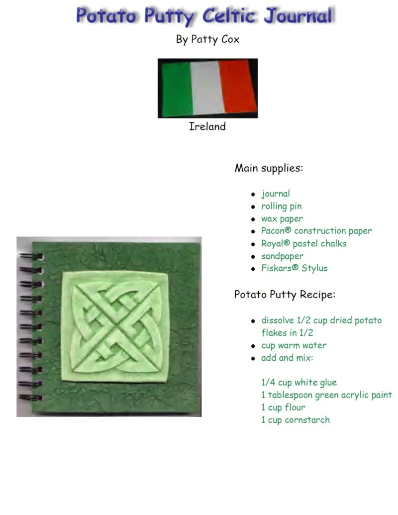 Irish Crafts for kids.... Potato10