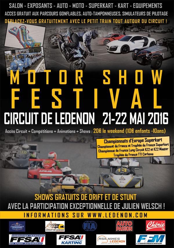 Ledenon MOTOR SHOW Affich11