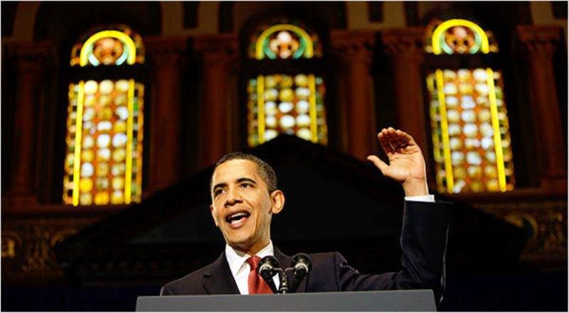 Jésus Sauveur des hommes (IHS) doit s'effacer devant Obama 14obam10