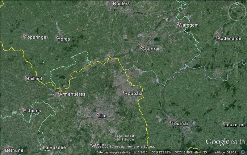 Limite entre le Hainaut et la Flandre Occidentale à Messines en Belgique. Fronti10