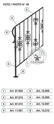 Diseños de pasamanos en hierro estilo colonial Pas1111
