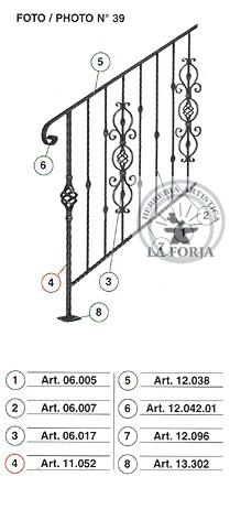 Diseños de pasamanos en hierro estilo colonial Pas411