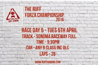 The Ruff Forza Championship 2016 - Race Day 5 Rd5_de10