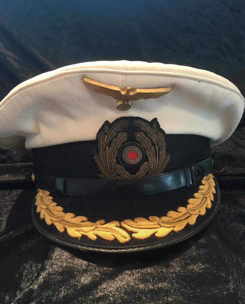 Casquette officier supérieur kriegsmarine blanche Image34