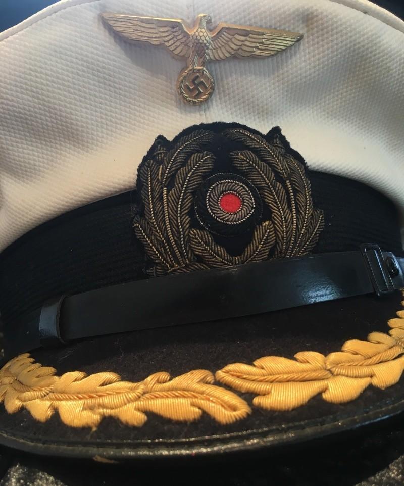 Casquette officier supérieur kriegsmarine blanche Image35