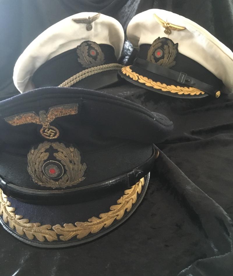 Casquette officier supérieur kriegsmarine blanche Image38