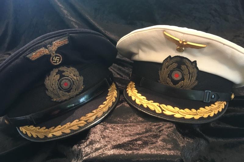 Casquette officier supérieur kriegsmarine blanche Image39