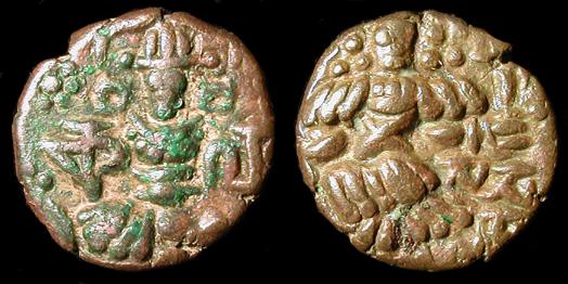 Bronze Cachemire dynastie Lohara, HARSHA [résolu] 0174_10