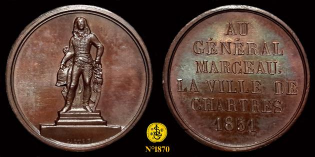 Médaille pour le Général Marceau ... 1870_210