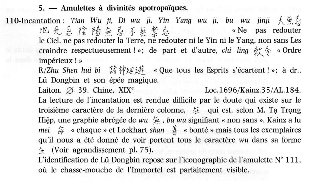 Amulette chinoise apotropaïque (qui détourne le danger, qui protège ...) Acvn1111