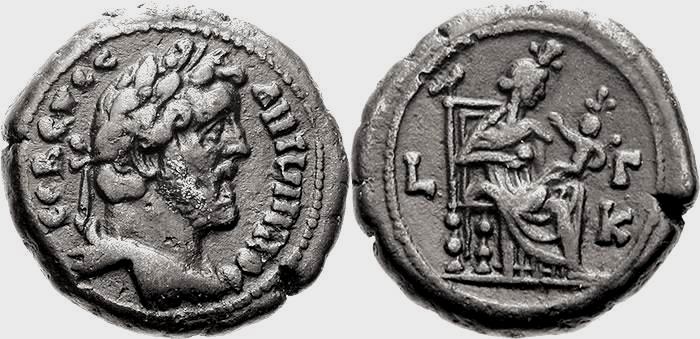 Tétradrachme provincial d'Alexandrie pour Antonin le pieux Antoni10