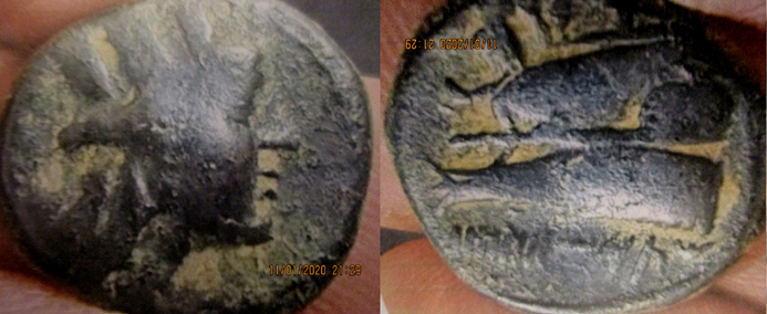 Bronze phénicien de la cité d'Arados ... Arados10
