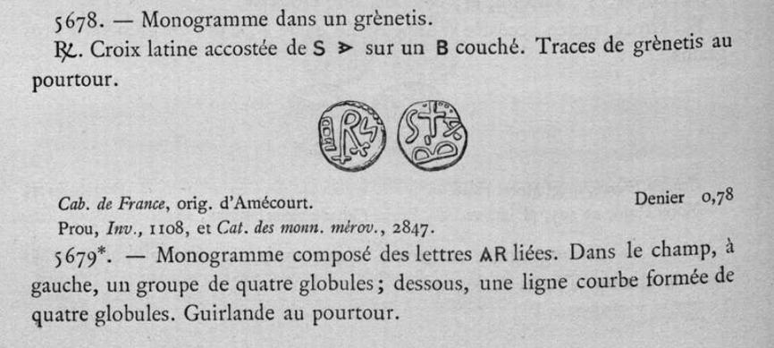 identification monnaie qui semble mérovingienne. Belfor11