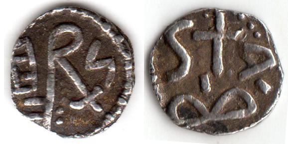 identification monnaie qui semble mérovingienne. Belfor12