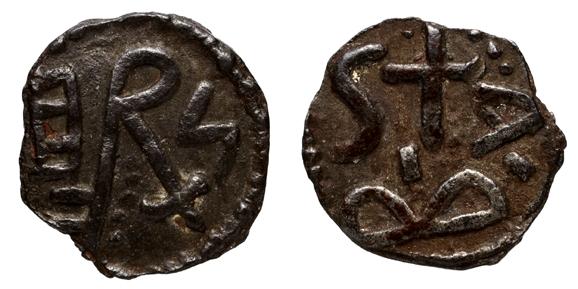 identification monnaie qui semble mérovingienne. Belfor13