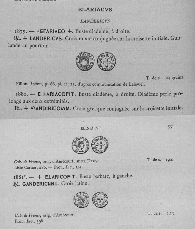 Trien méro d'Alleyrat (Elariaco) Corrèze (19), Landericvs monétaire ... Belfor15