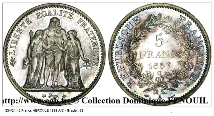 5 francs 1889 A Cinq_f10