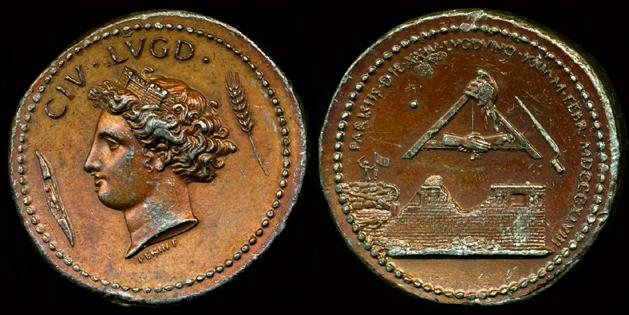 Médaille Revolution 1848 Lyon/Paris ... Collig10