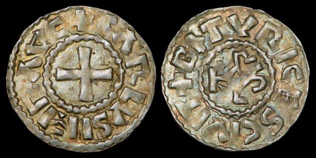 denier carolingien de Bourges pour Charles III le Simple (898-929) Denier16