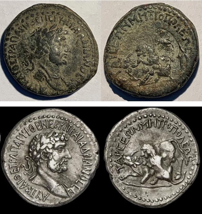 Copie de Tétradrachme d'Hadrien, Tarses, Cilicie, avec contremarque... Drachm12