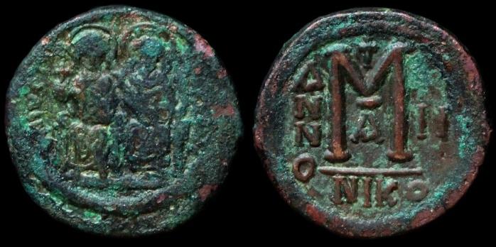 Follis byzantin de Nicomédie, sans doute pour Héraclius ... Follis10