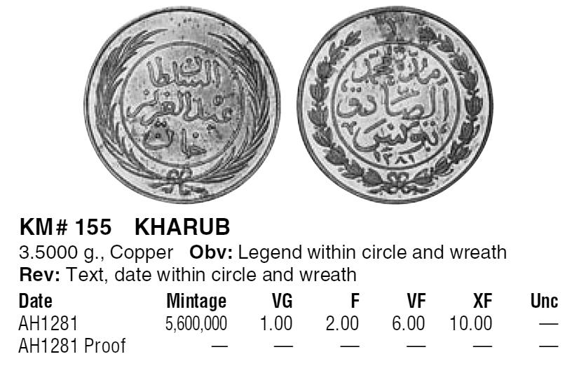 Kharoub ottoman tunisien sous le Sultan Abdul Aziz ... Karoub10