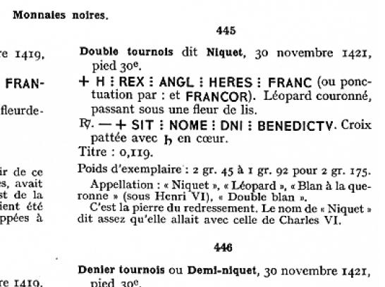 Henry V, Niquet ou Léopard de St Lô, vrai faux d'époque... Autres exemplaires à rechercher ! Lafaur11
