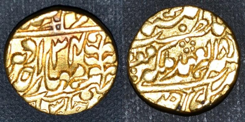 Monnaie or arabe à identifier Mohur_10