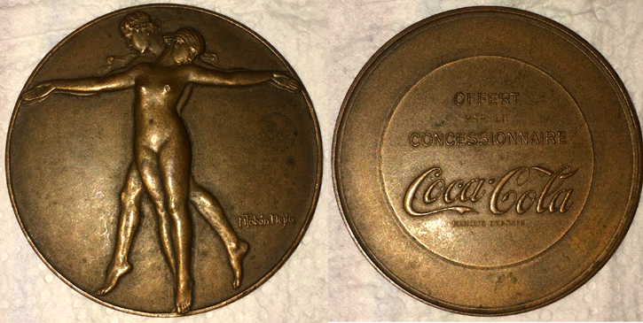 Aide identification / estimation médaille bronze publicitaire coca-cola Mzodai13