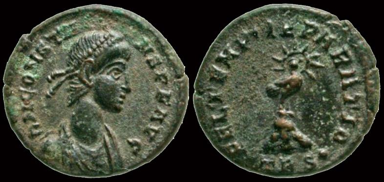 Demi-maiorina de Constance II, Antioche ... Nummus10