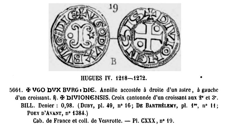 Denier bourguignon pour Dijon et sans doute pour Hugues IV ... Pa_n5610