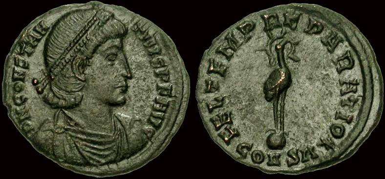 Demi-maiorina de Constance II, Antioche ... Phenix10