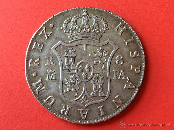 8 Reales 1808. Carlos IV. Madrid 213