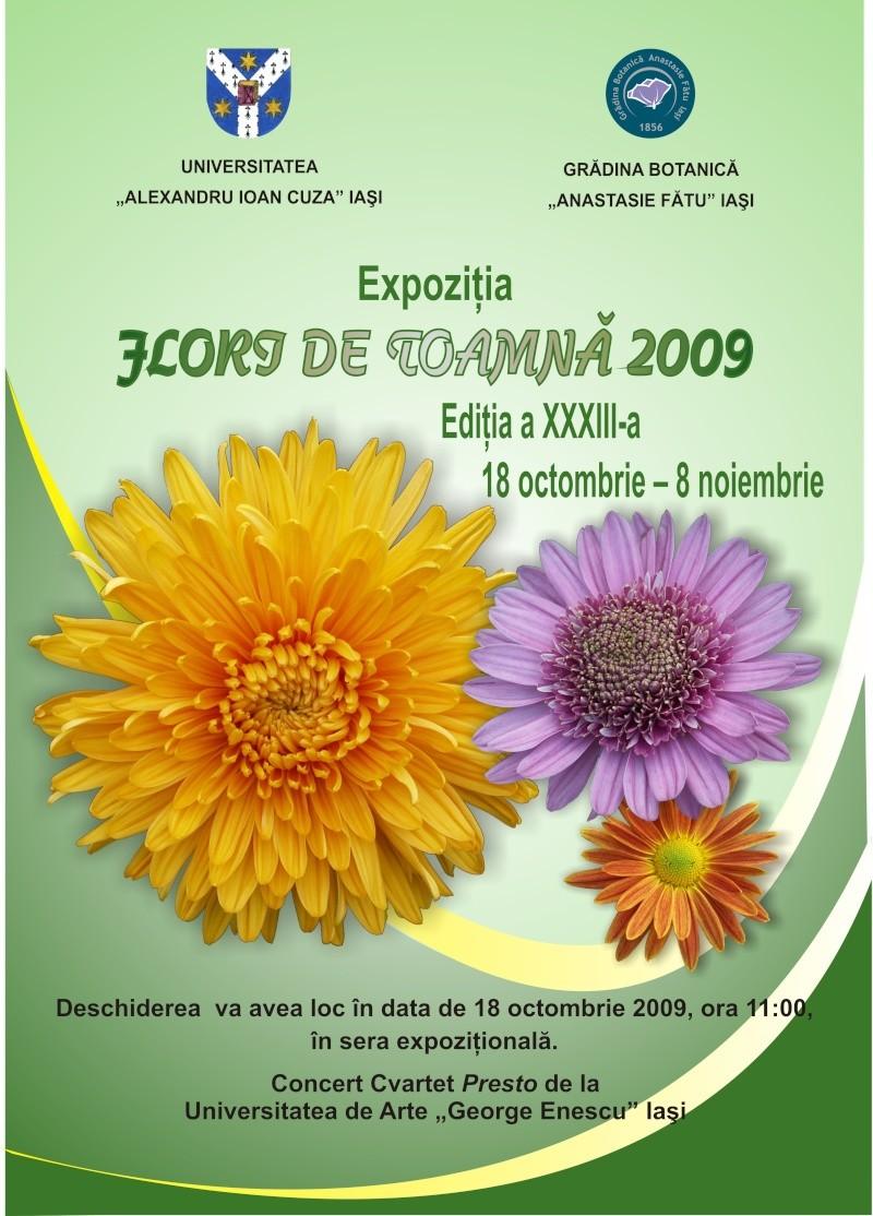 Expozitia de flori de toamna -Gradina Botanica A. Fatu-Iasi Afis_e10