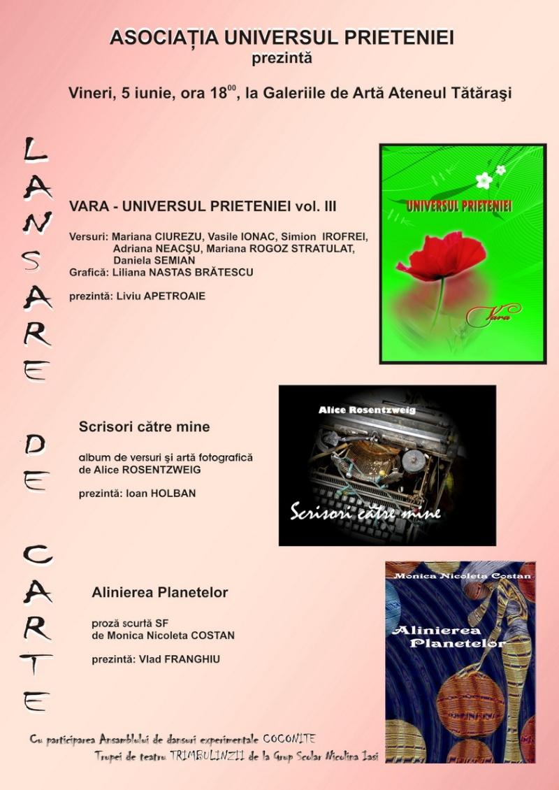 05 iunie 2009-Lansarea celui de al treilea volum din ciclul anotimpurilor-Universul Prieteniei-Vara Afis_v11