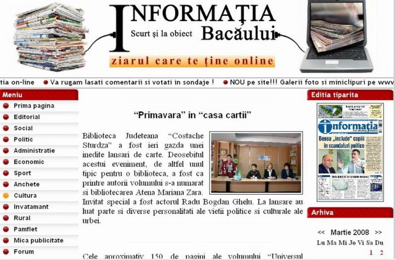 Ecouri in presa despre  actiunile organizate de Asociatia Universul Prieteniei Clip_216
