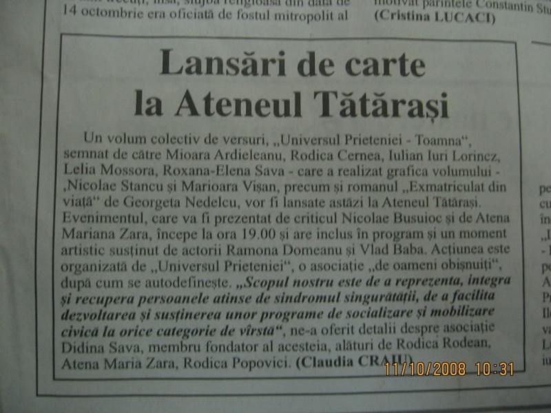 Ecouri in presa despre  actiunile organizate de Asociatia Universul Prieteniei Clip_910