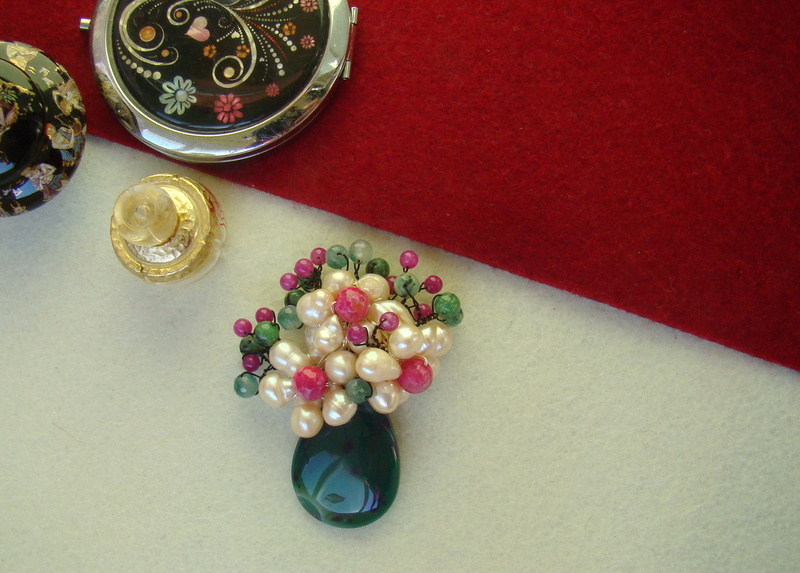 """""""Flori de piatră-Bijoux"""" albumul I-bijuterii artizanale marca Didina Sava - Pagina 4 Colie107"""
