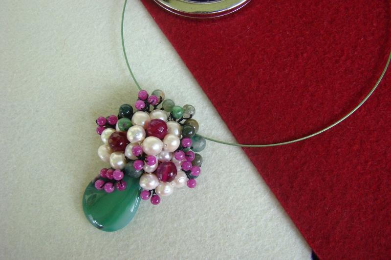 """""""Flori de piatră-Bijoux"""" albumul I-bijuterii artizanale marca Didina Sava - Pagina 4 Colie113"""