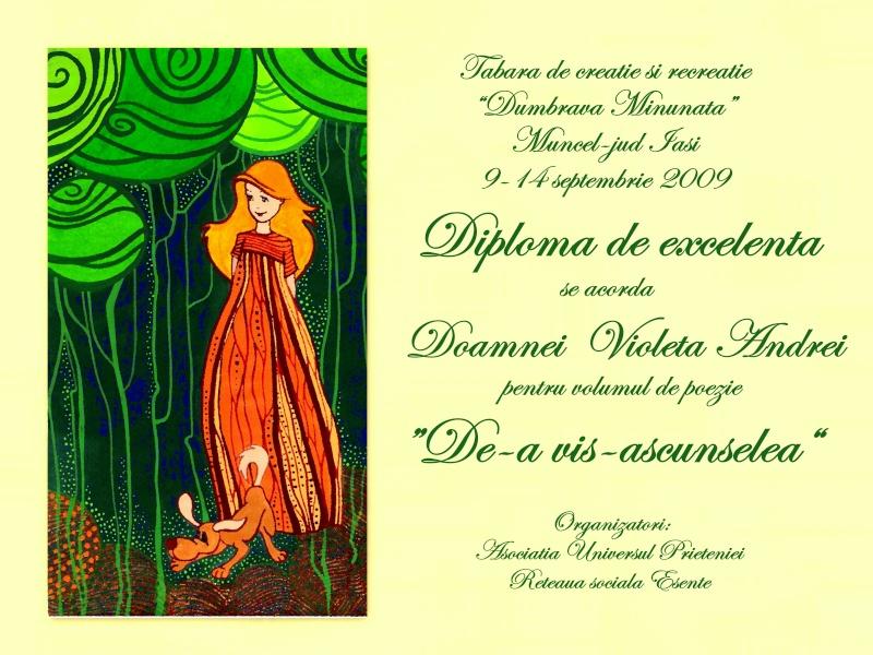 """Dumbrava Minunata""-tabara de la Muncel-Pascani 9-14 septembrie 2009 Diplom12"