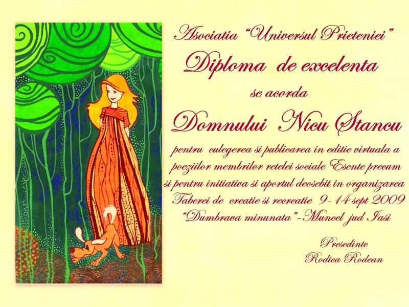 """Dumbrava Minunata""-tabara de la Muncel-Pascani 9-14 septembrie 2009 Diplom15"