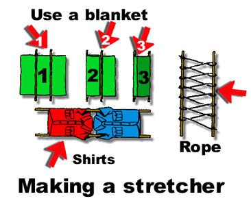 How to make an emergency stretcher Firsta10