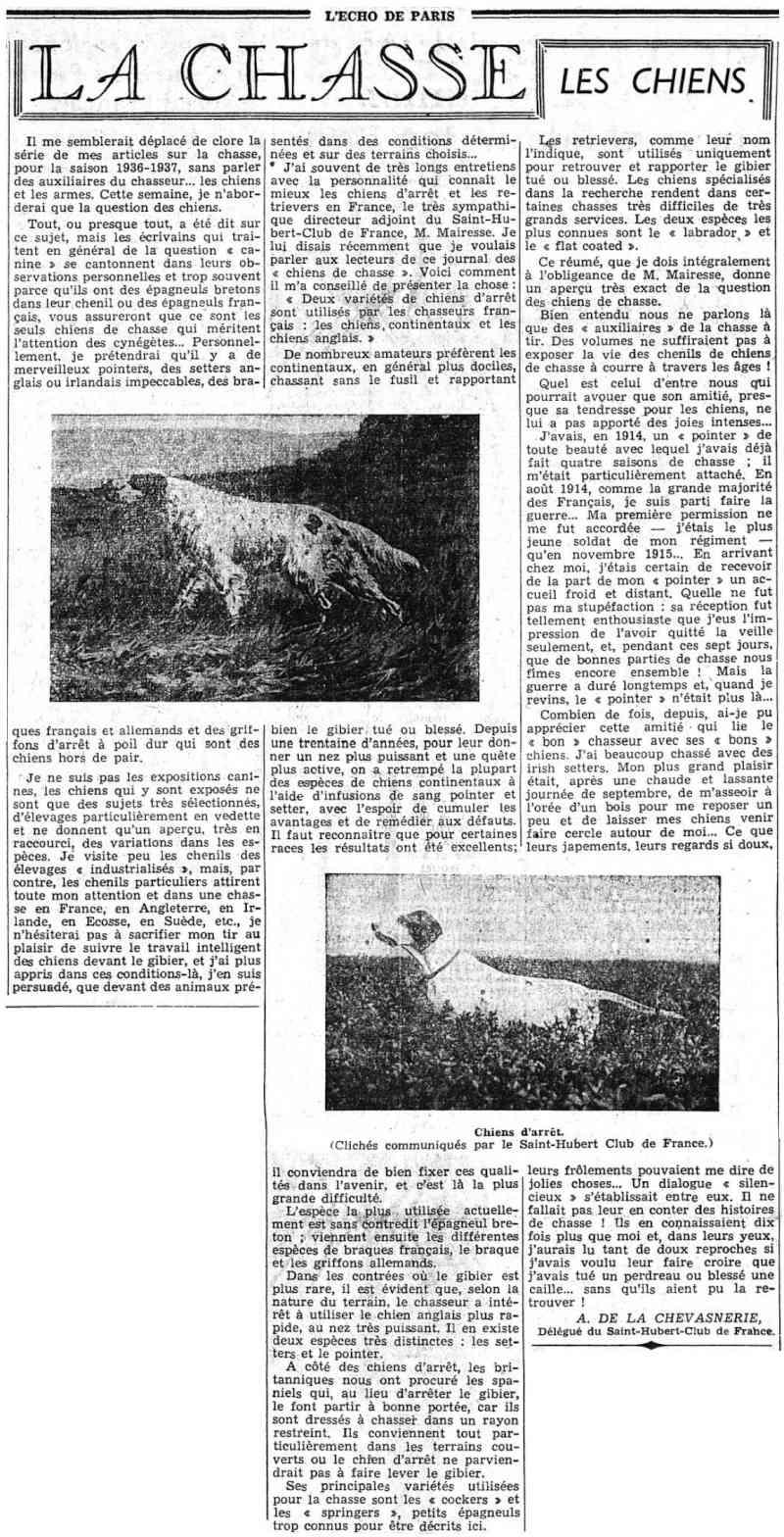 La Chasse - Les chiens... 193711