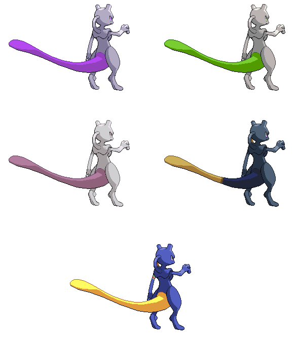 Another Mewtwo sprite (Back - HD) Mewtwo10