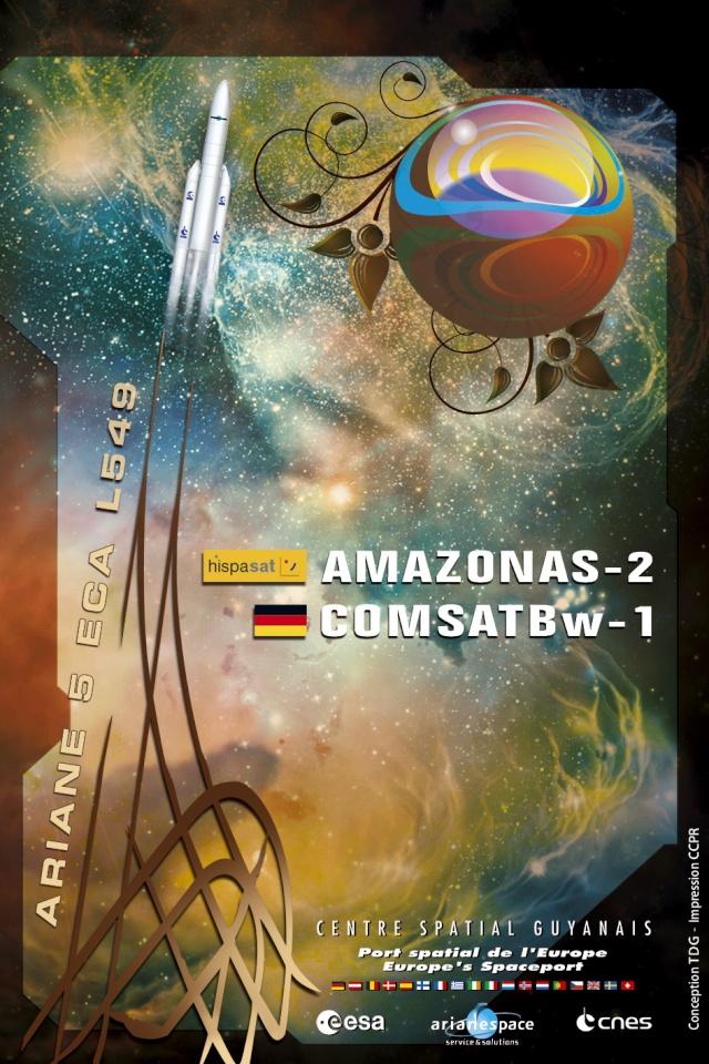 Ariane 5 ECA V191 / Amazonas 2 + COMSATBw-1 (01/10/2009) P5422_11