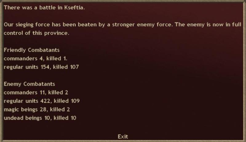 Turn 21. I killed the gorgon.  I went blind.  Ermor removed from game. Turn2110