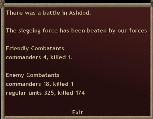 Turn 26.  The siege of ashdod has been lifted Turn2610