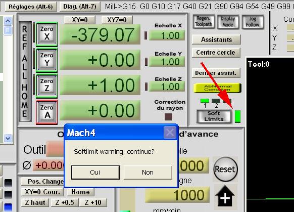 Problèmes avec G code Machli10