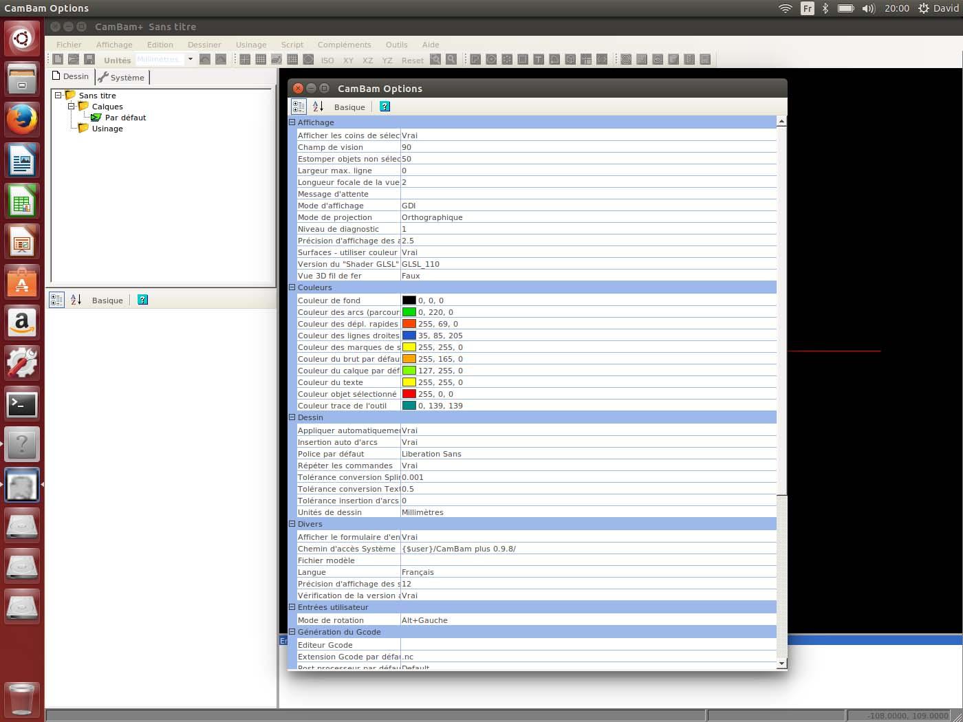 Cambam sous Linux Option10