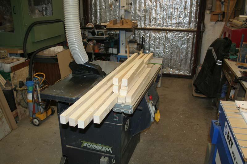 Fabrication d'une porte pliante Porte010